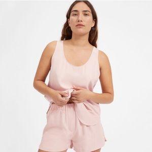 Everlane 100% silk pink sleep shorts size m
